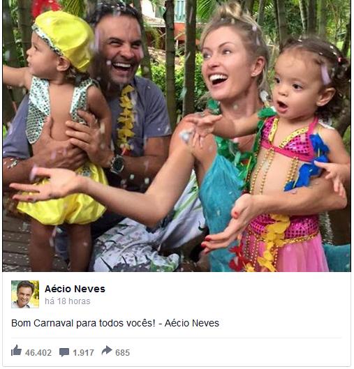aecio - Não é só você: políticos também curtem Carnaval nas redes sociais