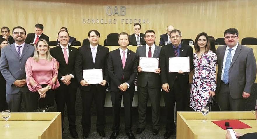 conselho federal - Conselheiros Federais da Paraíba na OAB Nacional tomam posse em Brasília
