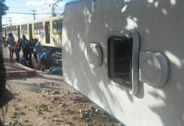 Acidente entre trem e ônibus de Santa Rita tem pelo menos três mortos e dezenas de feridos; veja vídeo