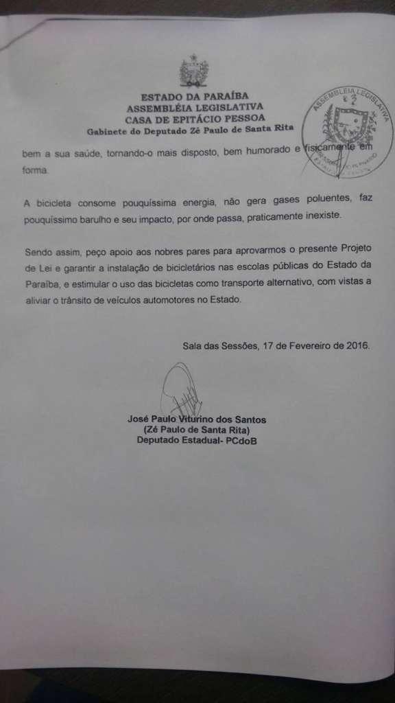 12675118 1048814765174689 254507867 o - Deputado Zé Paulo emite nota e diz que projetos em outros estados são 'calúnias'