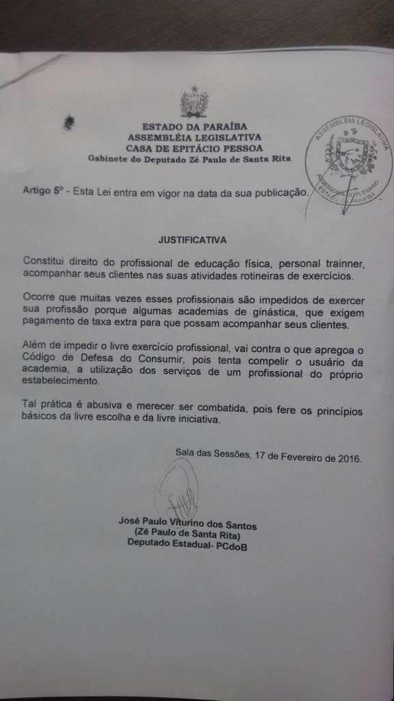12837142 1048814708508028 614784460 o - Deputado Zé Paulo emite nota e diz que projetos em outros estados são 'calúnias'