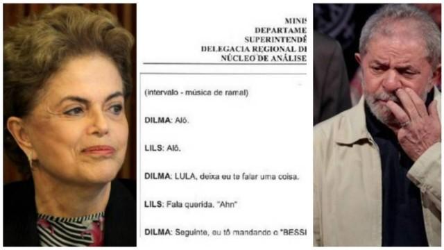 2Q - Grampos indicam que Dilma agiu para tentar evitar prisão de Lula - OUÇA !!!!