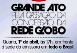 DIA 1o. ABRIL: Nas redes sociais movimentos pró Dilma convocam ato público contra a Rede Globo
