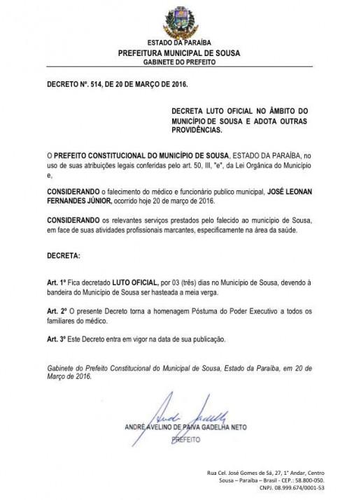 Luto 506x715 - TRISTEZA: Morre em hospital de João Pessoa jovem médico da região de Cajazeiras