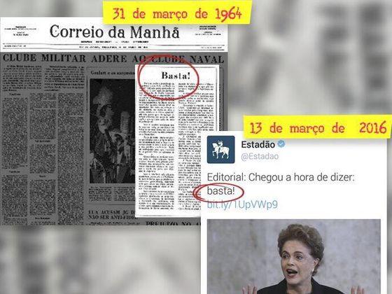 golpe1 - 1964 ou 2016, você consegue identificar de quando são essas manchetes?