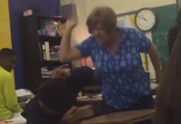 VEJA VÍDEO: professora é presa por agredir aluno em sala de aula