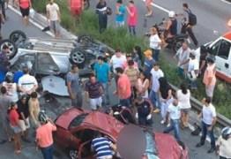RACHA A 170 KM NA ESTRADA DE CABEDELO: Acidente deixa casal morto e dois feridos – VEJA VÍDEO