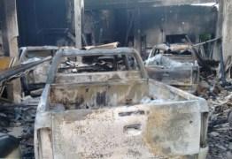 Incêndio em Cabedelo destrói viaturas novas da PM