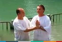 VEJA VÍDEO: Durante viagem de trabalho deputado Jair Bolsonaro aproveita para se batizar no Rio Jordão