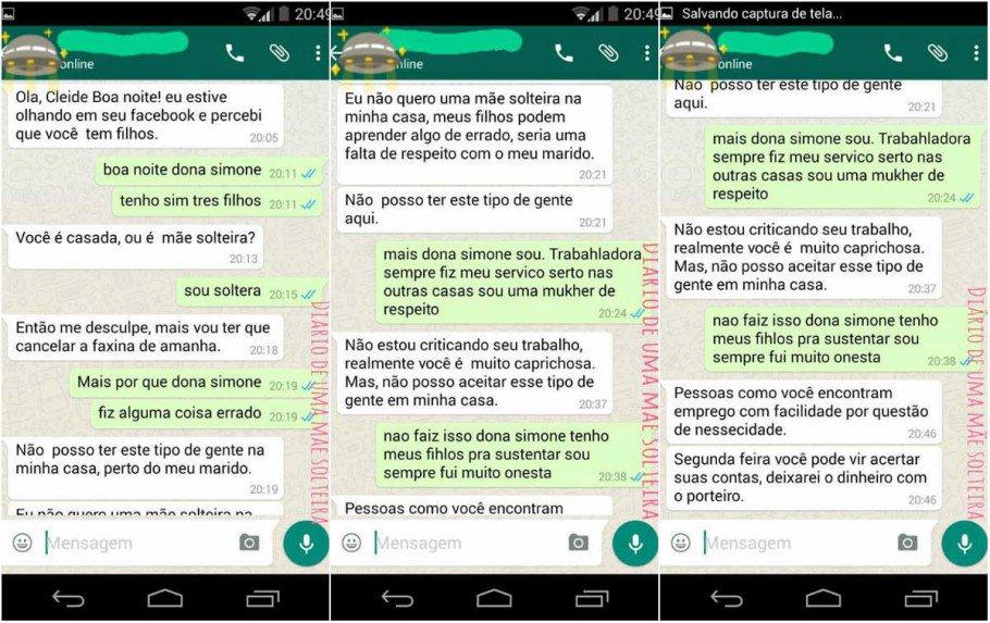 """preconceito 910x573 - POLÊMICA - Faxineira é demitida por ser mãe e solteira: """"Não posso aceitar esse tipo de gente na minha casa"""""""