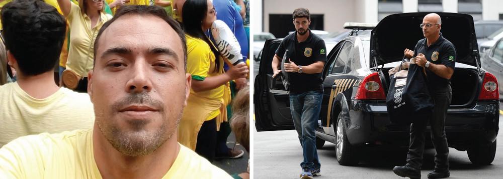 delegado pf - Delegado da PF preso por fraude foi para rua contra Dilma e contra 'corrupção'
