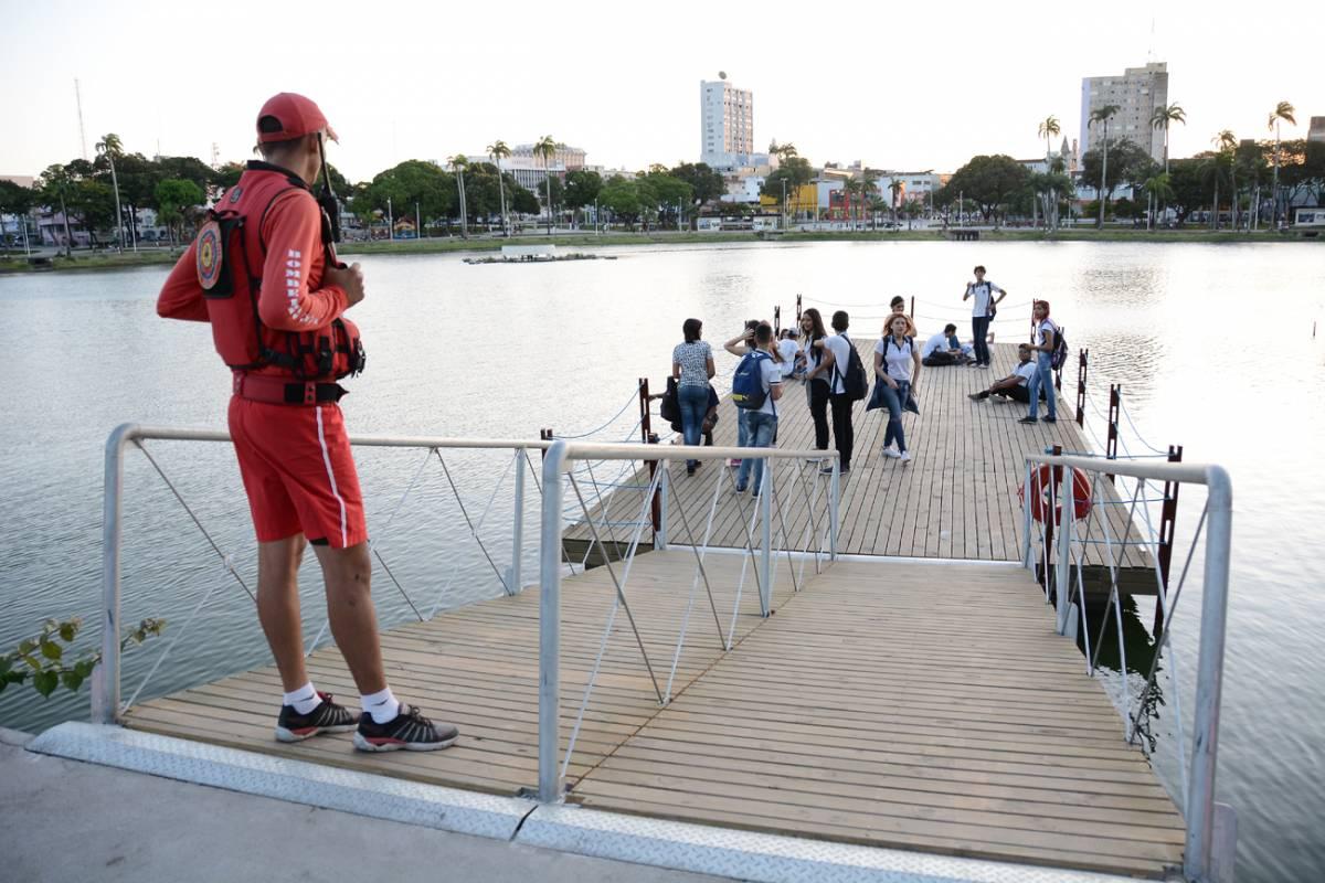 a8eadc84 8ae2 4b84 87f8 650e563b0b25 - Mais segurança: Píer flutuante do Parque da Lagoa recebe proteção e é elogiado pela população