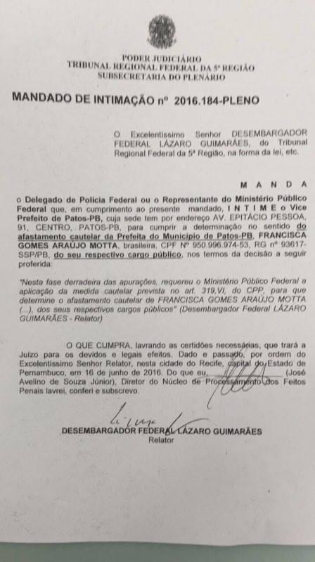 14302631 1186507268072104 730598768 n - PATOS TEM NOVO PREFEITO: Lenildo Morais toma posse e exonera secretários de Chica Motta