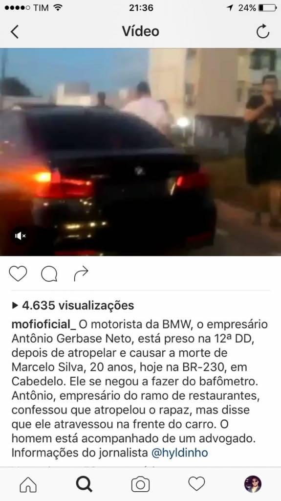 99abca7d 298f 40d4 a651 4e02071a315d - IMAGENS FORTES: Carro importado sem placa atropela e mata ciclista em Cabedelo; motorista identificado - VEJA FOTOS E VÍDEO