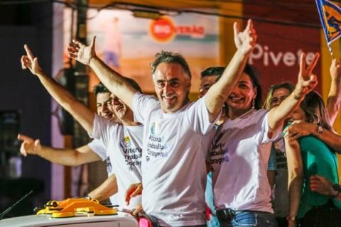 cartaxo comemoração - Luciano Cartaxo é o 4º mais bem votado entre as capitais