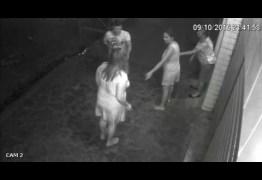 VEJA VÍDEO – Mulheres oram durante assalto na PB e arma de bandido falha 3 vezes; Suspeito foi preso