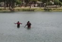 Homem resolve tomar banho na Lagoa do Parque Solon de Lucena