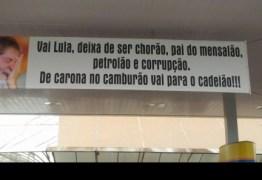 Dono de posto retira faixa atacando Lula, mas promete instalar outra