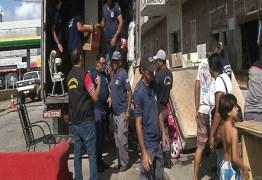 Mais de 90 famílias são relocadas de ocupação em hotel em João Pessoa