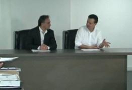 Kassab se reúne com Rômulo Gouveia e Luciano Cartaxo antes de encontro com representantes de rádios em João Pessoa