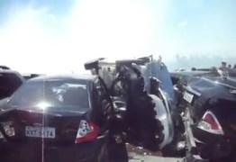 CHOCANTE: Acidente com oito veículos deixa feridos e fecha pista na BR-381 – VEJA VÍDEO