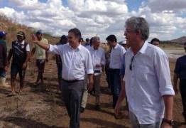 Ricardo e Cássio caminham 'lado a lado' em visita a obra da transposição do São Francisco