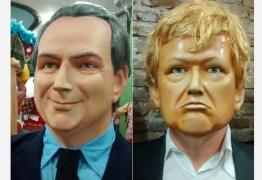 Temer e Trump são transformados em bonecos gigantes no carnaval de PE