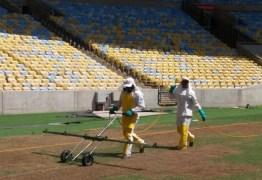 Sem contrato, empresa pulveriza gramado do Maracanã para eliminar lagartas