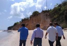 Barreira do Cabo Branco é inspecionada pela Bancada de oposição nesta manhã