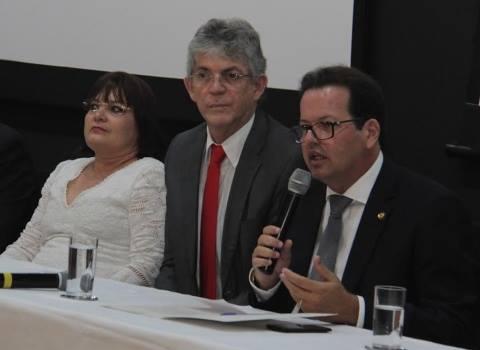 governador andré carlo - Ricardo Coutinho participa da posse do novo presidente do TCE