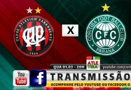 POLÊMICA:  Insatisfeitos com a Globo, Atlético e Coritiba vão transmitir clássico via redes sociais
