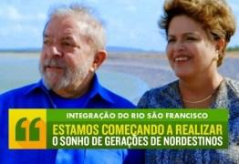 TRANSPOSIÇÃO: Lula, Dilma e Governadores fazem inauguração simbólica da maior obra do Nordeste