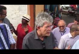 Governador vai até Boqueirão e diz que chegada das águas é uma dádiva