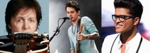 paul mccartney bruno mars john mayer 300x107 - Paul McCartney, John Mayer e Bruno Mars garantem lugar na agenda para o Brasil