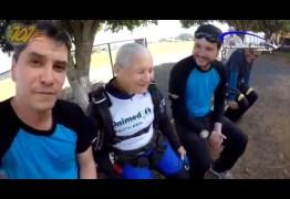 Idosa de 81 anos realiza sonho radical e salta de paraquedas no dia das mães – VEJA VÍDEO