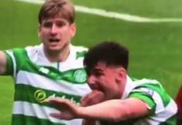 Vídeo: Jogador perde dois dentes em dividida na final da Copa da Escócia