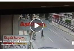 VEJA VÍDEO: Câmera de segurança flagra acidente com cantora paraibana de forró