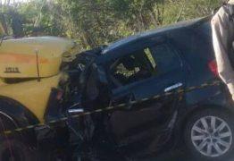TRAGÉDIA NO TRANSITO: Batida frontal em caminhão mata empresário e sanfoneiro em Picuí