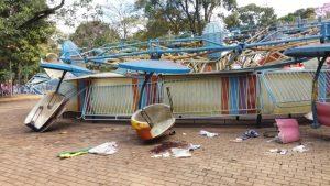 PANE BRINQUEDOS PARQUE DE DIVERSÕES 300x169 - Pane em brinquedo de parque de diversões deixa feridos