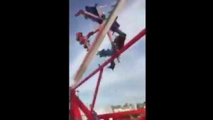 acidente parque diversões 300x169 - VEJA VÍDEO: Acidente com brinquedo em parque de diversões deixa um morto e sete feridos