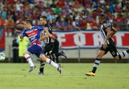 Botafogo enfrenta o Fortaleza, em João Pessoa, nesta sexta