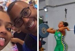 Filha de Dudu Nobre é vice- campeã de levantamento de peso