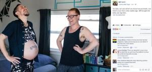 gravido 300x144 - Transgênero e parceiro anunciam nascimento do 1º filho biológico