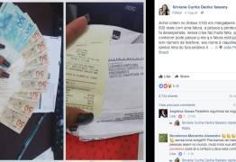 Mulher encontra fatura e R$ 600 perdidos em ônibus e paga a conta