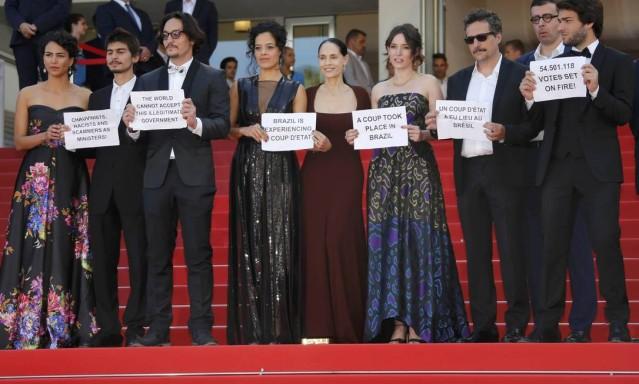 aquarius protesto temer cannes - Diretor da Ancine, escolhido por Temer, protestou contra presidente durante festival em Cannes
