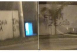 Muros do CT do Flamengo são pichados após derrota para o Santos