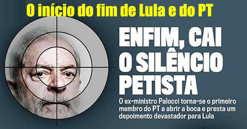 Ferida aberta por Palocci jamais irá cicatrizar dizem dirigentes do PT. Lula se isola após traição mortal - O fracasso moral e político do lulopetismo e a tentativa de encobrir crimes e despistar a verdade histórica - Por Gilvan Freire