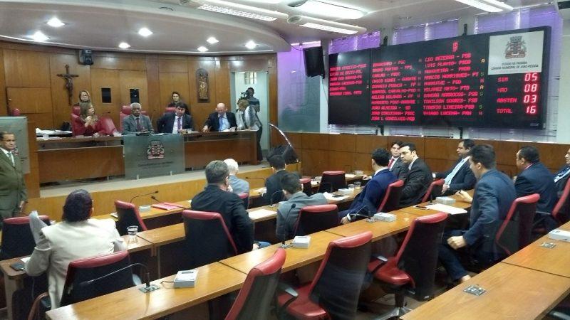 câmara joão pessoa - Ausência de vereadores causa imbróglio entre membros da oposição e da situação na CMJP