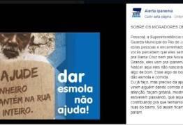 """""""ESMOLEIROS DE PROFISSÃO"""": Campanha online pede """"gritaria"""" contra quem dá esmola"""