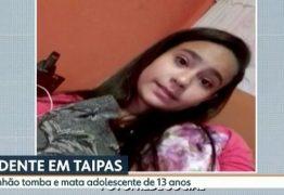 VEJA VÍDEO: Vídeo mostra caminhão tombando sobre meninas e matando adolescente